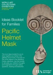 Helmet Mask ideas booklet - Sainsbury Centre for Visual Arts