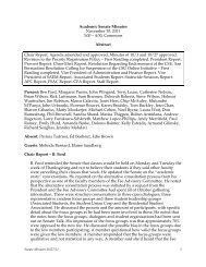 Academic Senate Minutes November 10, 2011 3:00 – 4:30 ...