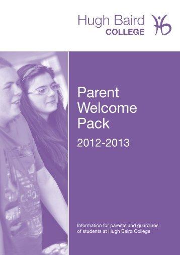 Parent Welcome Pack 2012-13 - Hugh Baird College