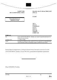 6725/08 an DG C I A RÅDET FOR DEN EUROPÆISKE ... - Europa