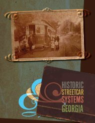 historic streetcar systems in Georgia - the GDOT