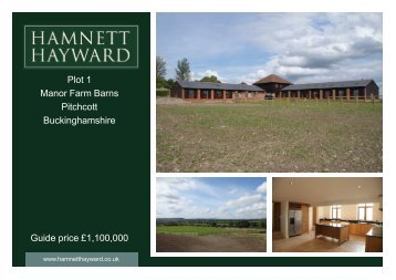 Plot 1 Manor Farm Barns Pitchcott Buckinghamshire ... - Expert Agent