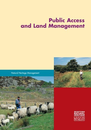 Public Access and Land Management - Scottish Natural Heritage