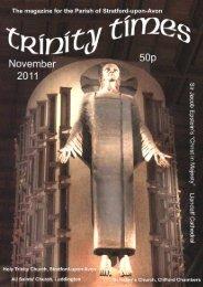 November 2011 - Friends of Shakespeare's Church