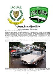 Report by Jack Clough and Theo Alberda - The Jaguar Drivers Club ...