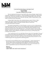 Concordia Parish 4-H Advisory Leadership Council Meeting Minutes ...