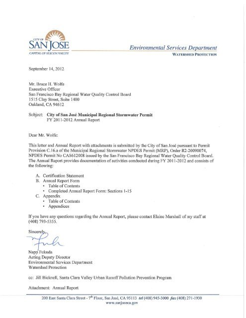 San Jose State Water Resources Control Board