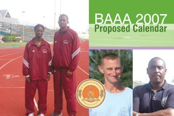 Get the BAAA Proposed Calendar for 2007...