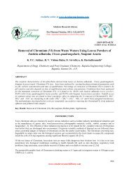 Removal of Chromium (VI) from Waste Waters Using Leaves ...
