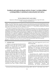 Synthesis and anticonvulsant activity of some 1-cyclohexylidine ...