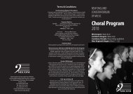 Choral 1,5,6 - New England Conservatorium of Music
