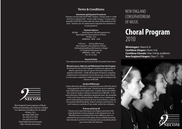 Choral 1,5,6 - New England Conservatorium of Music