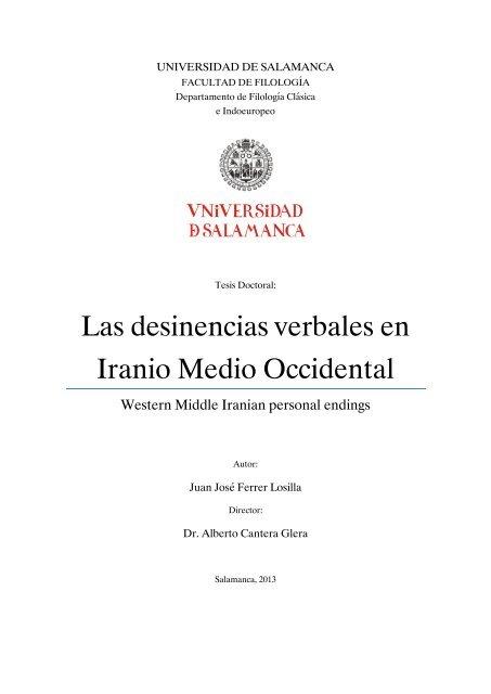 Las desinencias verbales en Iranio Medio Occidental