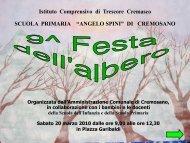 Festa dell Albero - Istituto Comprensivo di Trescore Cremasco