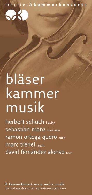 bläser kammer musik - Meister & Kammerkonzerte
