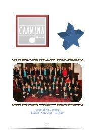 Youth choir Carmina – a short presentation: - C-koren
