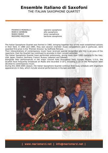 Ensemble italiano di Saxofoni - Mario Marzi