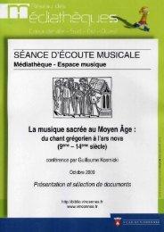 La musique sacrée au Moyen Age