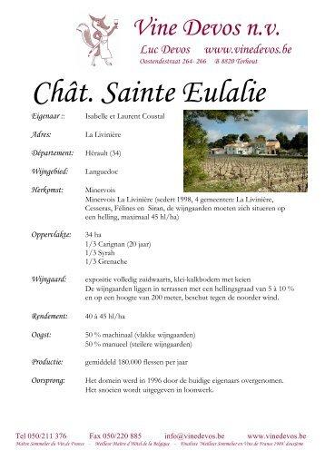 09 Ch Ste Eulalie (Isabelle Coustal) Miniervois La - Vine Devos
