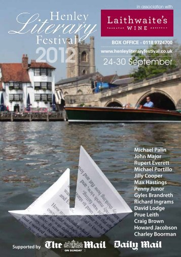 Box office - Henley Literary Festival