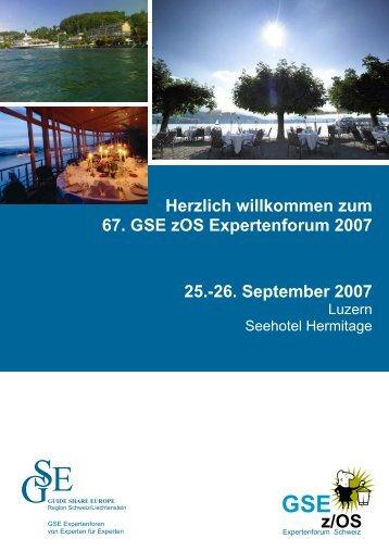 GSE z/OS - Messmer The Brain House