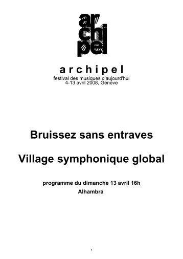 Télécharger les notes de programme du concert de - Festival Archipel
