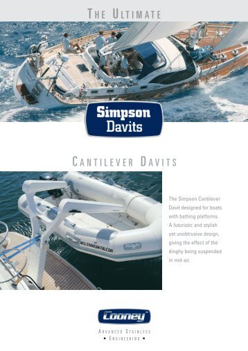 Cantilever Davits - Cooney Marine