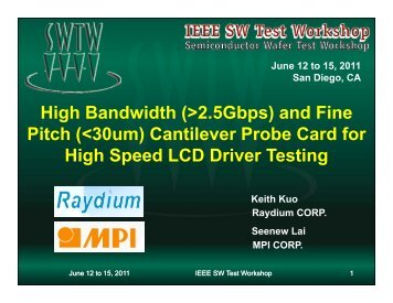 High Bandwidth (>2.5Gbps) and Fine Pitch (