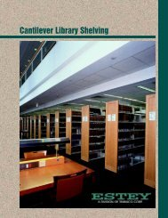 Cantilever Library Shelving - Storage Solution