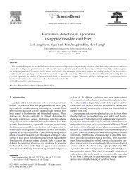 Mechanical detection of liposomes using piezoresistive cantilever
