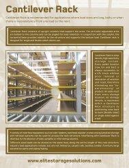 Cantilever Rack - Elite Storage Solutions