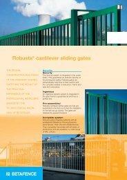 Robusta® cantilever sliding gates - Glebe Fencing