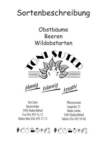 Wildobstarten - Toni Suter