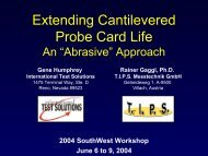 Extending Cantilevered Probe Card Life - IEEE SW Test Workshop