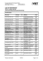 Vorspann-Brückentechnologie VBT systems