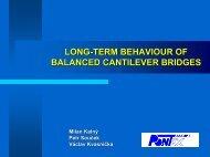 Long-term behaviour of balanced cantilever bridges - ACES