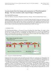 Lessons learnt from the design and construction of - Bangladesh ...