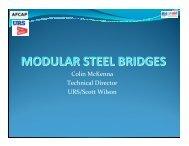 MODULAR STEEL BRIDGES - AFCAP
