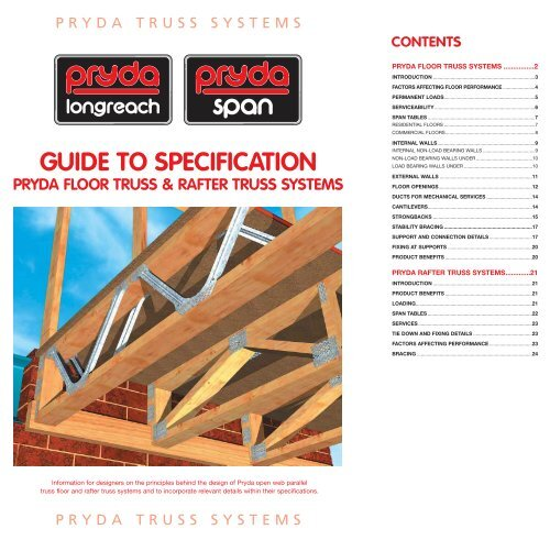 Longreach Floor Truss Guide to Specifications  - Southport