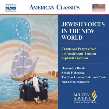 Download Liner Notes PDF - The Milken Archive of Jewish Music