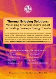 Thermal Bridging Solutions: - Modern Steel Construction