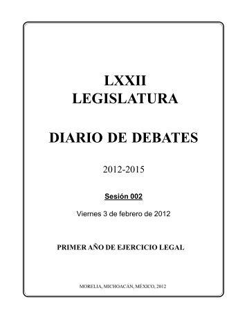lxxii legislatura - H. Congreso del Estado de Michoacan de Ocampo