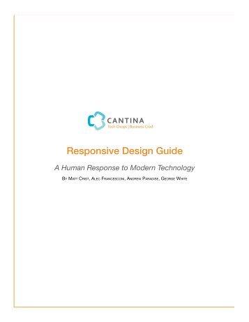 Responsive Design Guide – A Human Response to Modern - Cantina