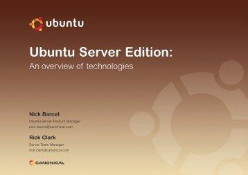 Ubuntu Server Edition: - cdn.oreilly.com