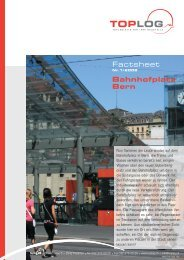 Factsheet Bahnhofplatz Bern - Toplog AG