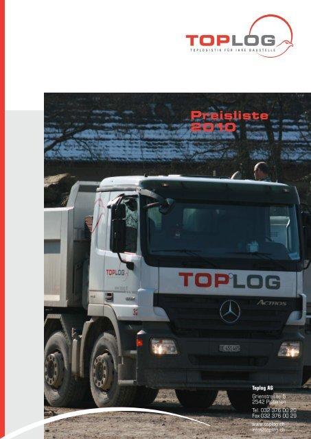 Preisliste 2010 - Toplog AG
