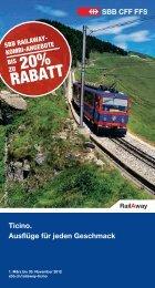 Ideen für die Freizeit von RailAway im Tessin - Tilo