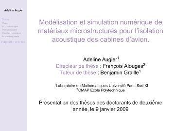 Modélisation et simulation numérique de matériaux microstructurés ...