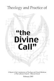 45930 Divine Call CTCR final - The Lutheran Church—Missouri Synod