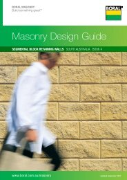 Masonry Design Guide - Boral